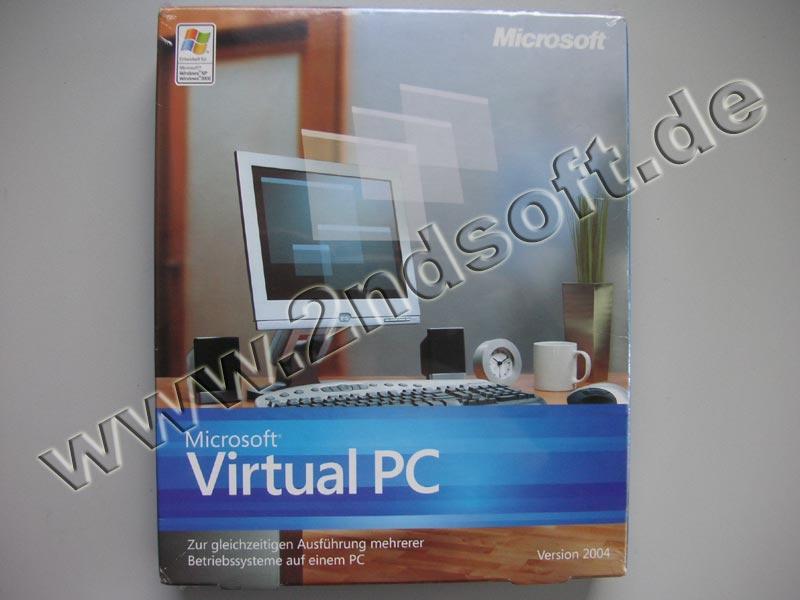 Virtual PC 2004 Vollversion, englisch für Windows 2000/XP - neu